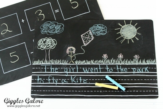 Chalk anyone? This back to school diy project is awesome.